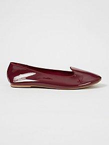 53cdb6e26273 Burgundy Patent Ballet Shoes