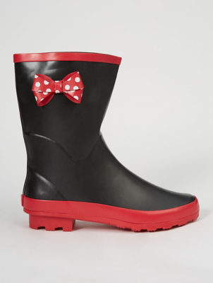 Disney Minnie Mouse Calf High Wellington Boots