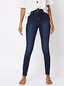 135c034efe2 Dark Wash High Waisted Denim Skinny Jeans