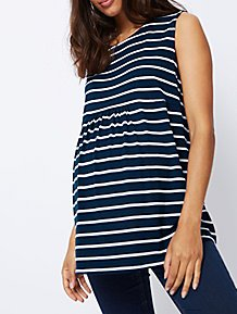 74613d3112d Blue Striped Maternity Vest Top