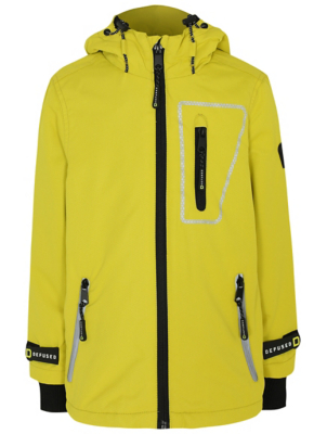 Yellow Shower Resistant Reflective Sports Jacket