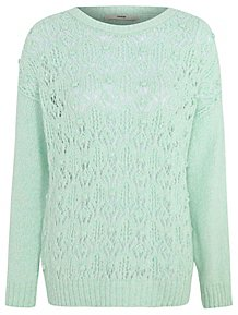 26f9e6cf1a99a3 Mint Green Bobble Knit Jumper