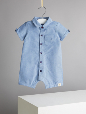 Billie Faiers Blue Chambray Romper