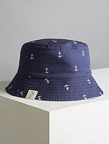pretty nice f1448 f8d77 Billie Faiers Navy Anchor Reversible Bucket Hat