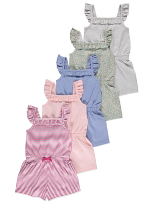 Floral Playsuits 5 Pack