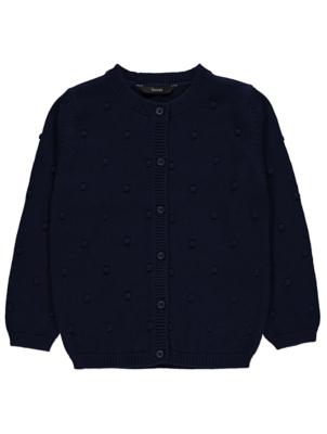 Navy Bobble Knit Cardigan