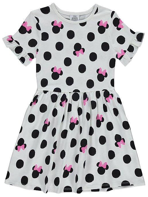 Disney Minnie Mouse Polka Dot Dress Kids George At Asda