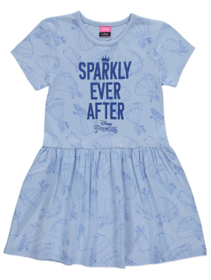 Disney Princess Blue Slogan Print Dress