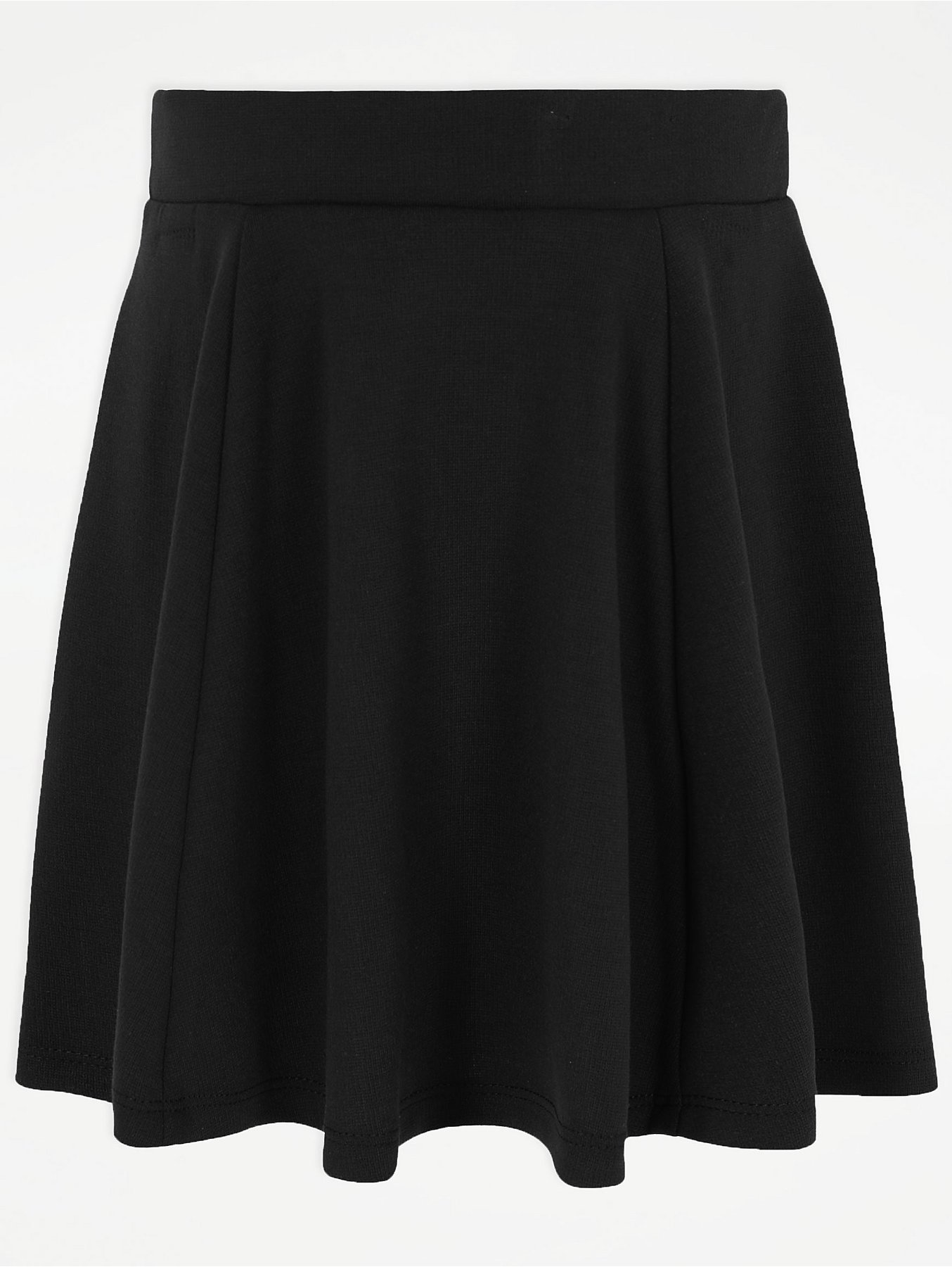 db478bc843 Senior Girls Black Jersey School Skater Skirt | School | George
