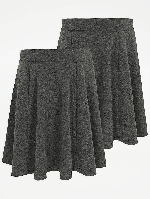 05808ff9fa Girls Grey Skater School Skirt 2 Pack | School | George