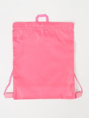 Pink Mesh Insert Swim Bag