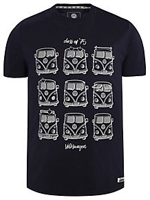Volkswagen Campervan Navy Short Sleeve T-Shirt ef0f118e1