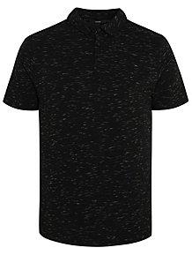 Black Marl Short Sleeve Polo Shirt 3dbe52ec1