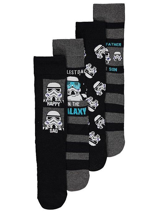 6d046d42a1a Star Wars Stormtrooper Slogan Socks 4 Pack
