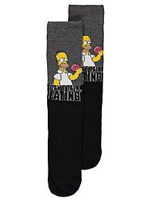 0f1bb4c4c51 The Simpsons Homer Slogan Socks