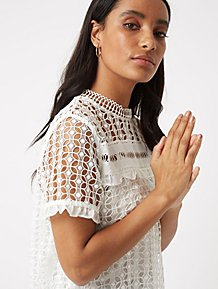 Orange T Shirt. (0). White Lace Overlay Top 6a8454766d6e