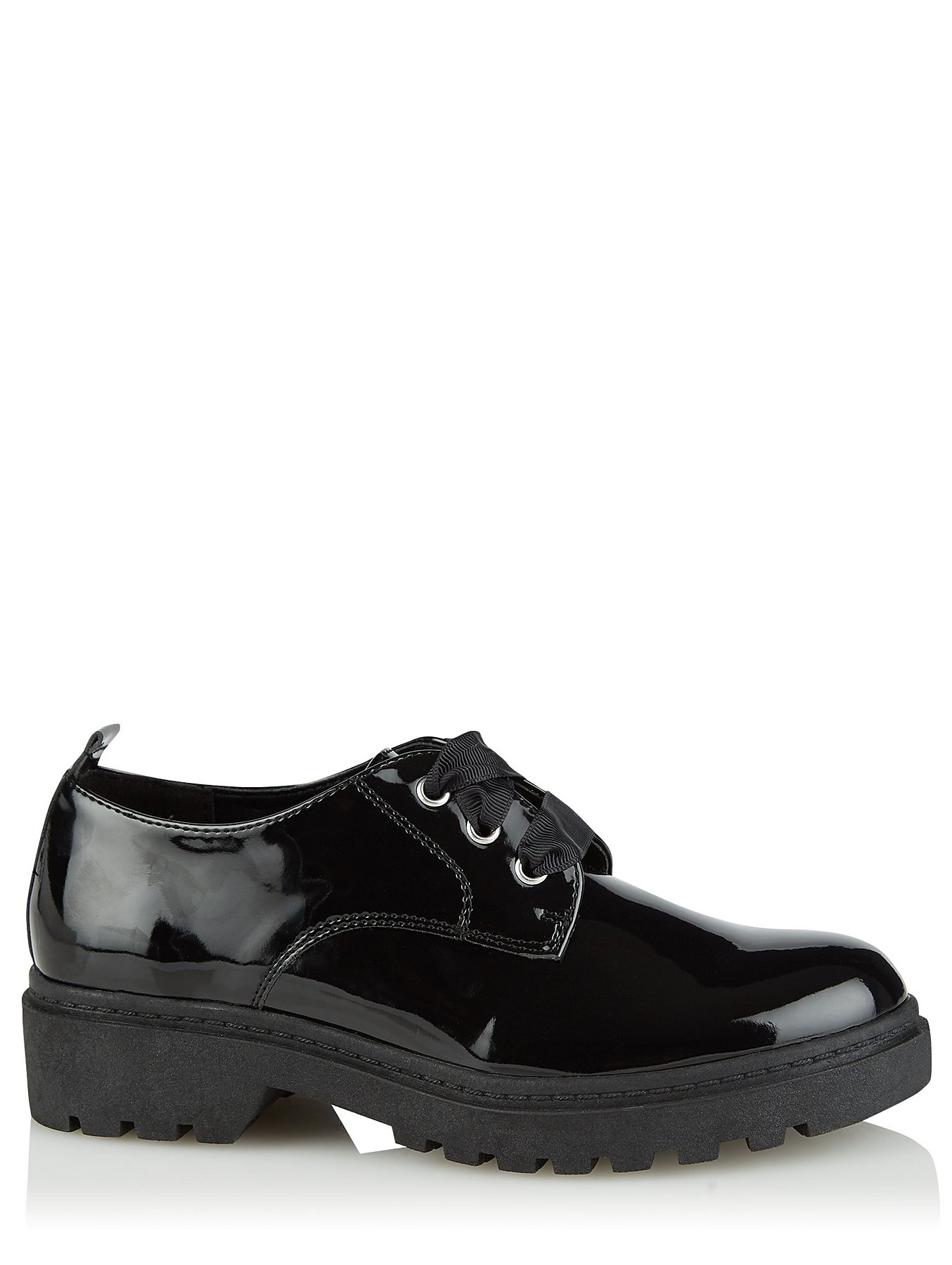asda black girls lace up school shoes