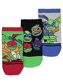 4e73118d4c6 Teenage Mutant Ninja Turtles Trainer Socks 3 Pack