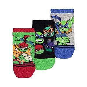 Teenage Mutant Ninja Turtles Trainer Socks 3 Pack