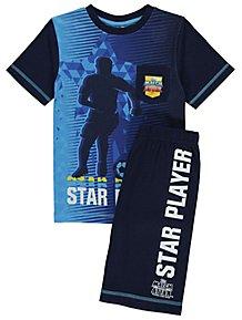88400e8d68b Match Attax Blue Star Player Short Pyjamas