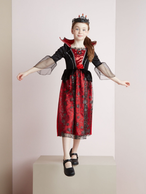 Halloween Shimmering Vampire Fancy Dress Costume