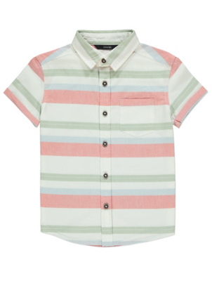 Colour Stripe Short Sleeve Shirt