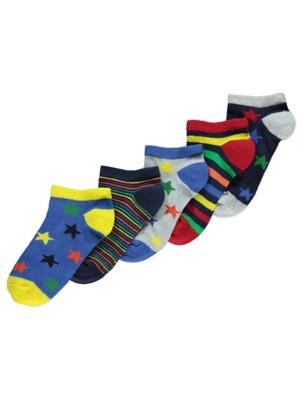 Stars and Stripes Trainer Socks 5 Pack