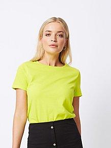 06731f7e50a Lime Green Crew Neck Jersey T-Shirt
