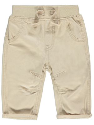 Cream Woven Trousers