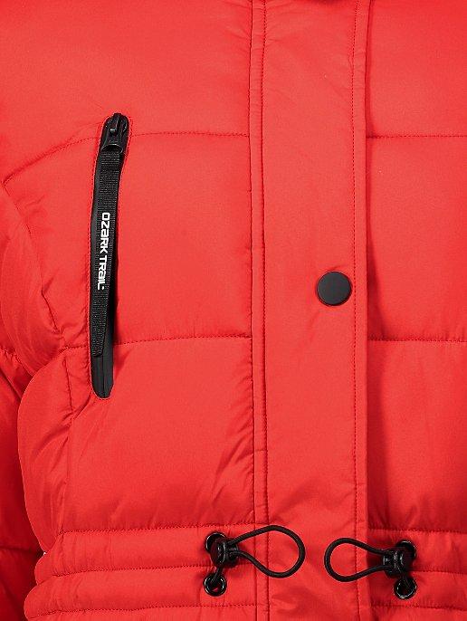 Ozark Red Longline Thermolite Wadded Padded Coat