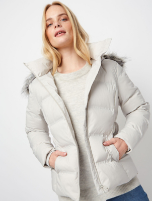 Ozark Stone Seamless Feather and Down Padded Coat