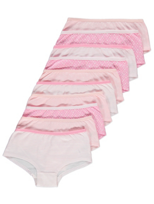 Pink Star Print Shorts 10 Pack