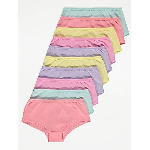Pastel Short Knickers 10 Pack