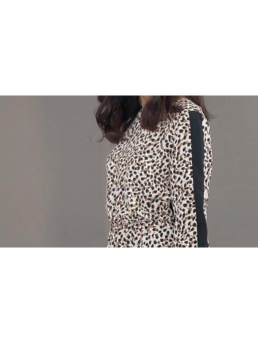 9d18be55ed7 Leopard Print Side Stripe Jumpsuit