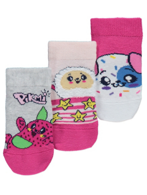 Pikmi Pops Trainer Liner Socks 3 Pack