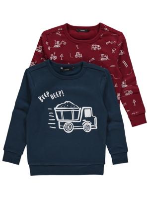 Navy Digger Print Sweatshirts 2 Pack