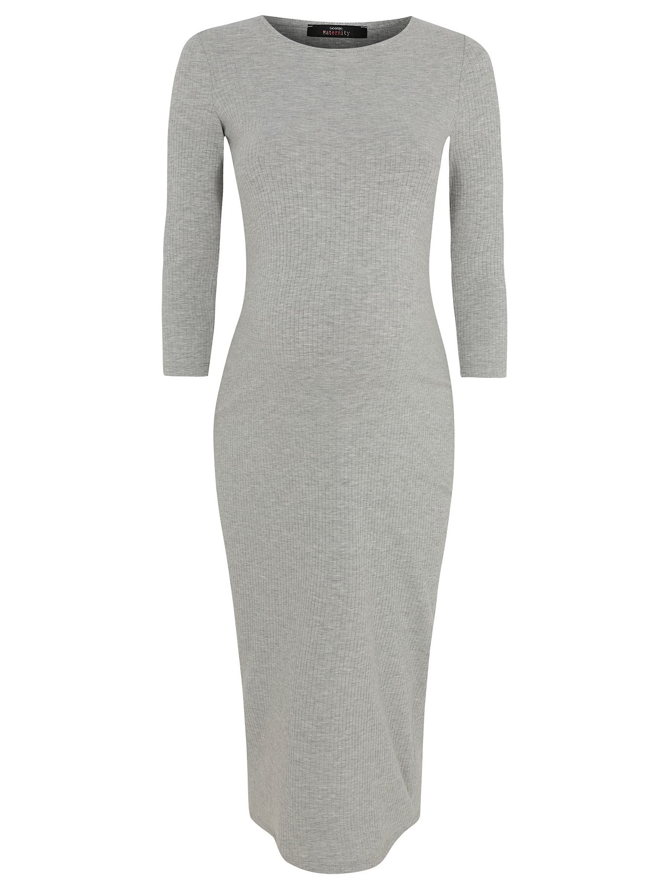 00d6ebfeea Maternity Light Grey Ribbed Bodycon Midi Dress. Reset