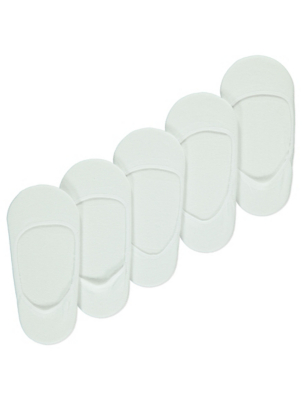 White Footsie Socks 5 Pack