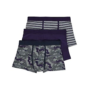 Purple and Grey Hipster Trunks 3 Pack