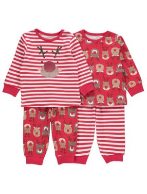 Rudolph Christmas Pyjamas 2 Pack