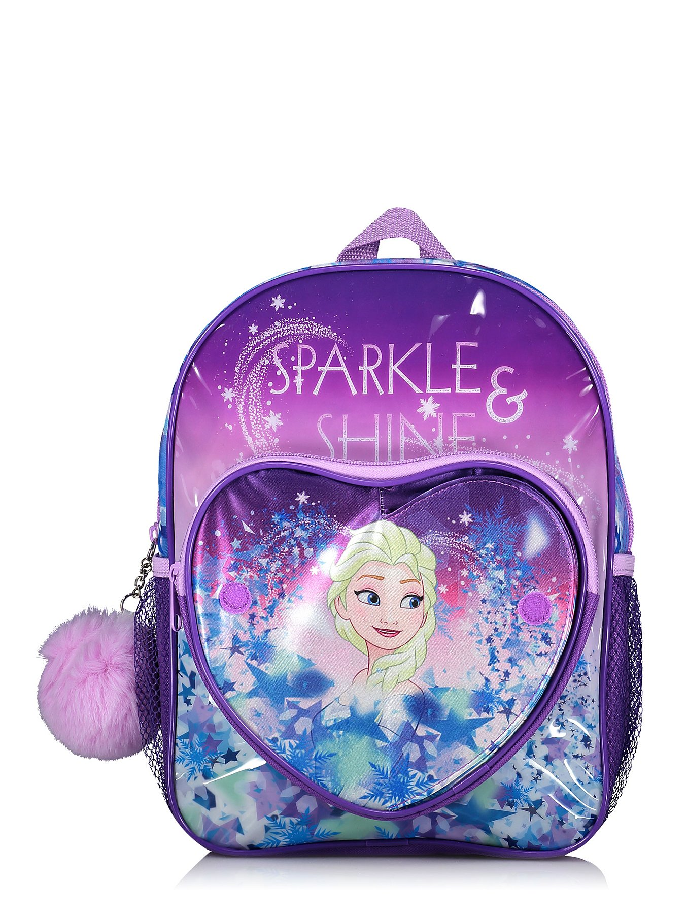 Disney Frozen Anna and Elsa Slogan Backpack