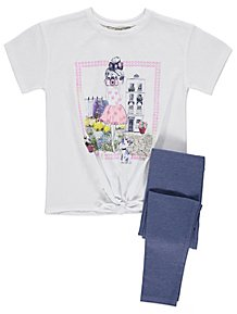 0af67cfeb84 Girl Scene T Shirt and Leggings Outfit