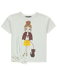 d6e458667b5dd Cream Fashionista Tie-Front T-Shirt. From £5