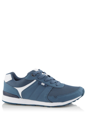 Blue Mesh Lightweight Trainers