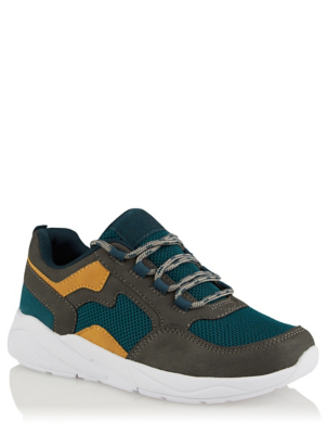 Teal Sporty Chunky Lace Up Trainers