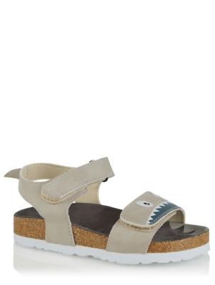 Grey Shark 2 Strap Sandals