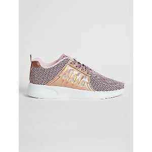 Pink Knitted Iridescent Panel Trainers