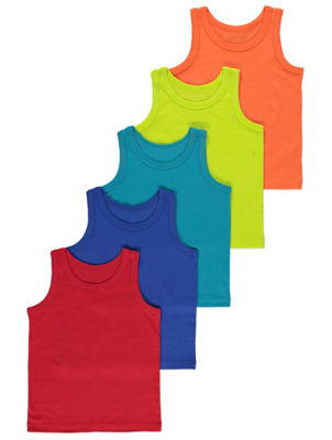 Colourful Vests 5 Pack