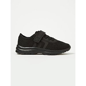 Black Mesh Detail 1 Strap Trainers