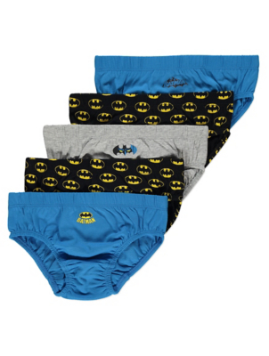 DC Comics Batman Blue Briefs 5 Pack